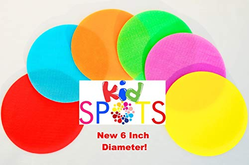 Dot Lap Desk - Kid Spots Original Classroom Carpet Spot Markers for Teachers 6 inch 30 Circle Pack