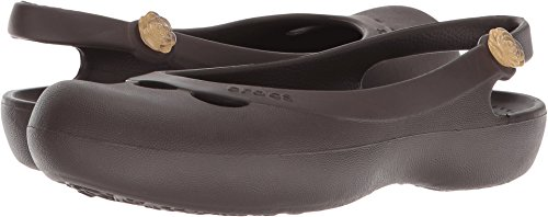 Sling Crocs (Crocs Crocs Ladies Jayna Slip On Croslite Slingback Sandal Brown Espresso Croslite UK Size 3 (EU 35, US 5))