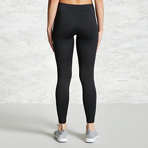 Girl Mesh Sport donna Stretch Slimming Angelof Yoga pantaloni Pantaloni Leggings Chic Legging Jogging Black Strip vwRFq85