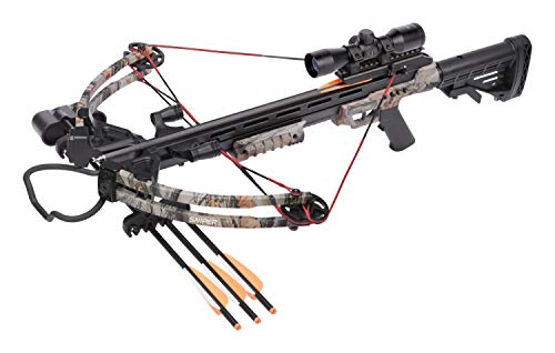 CenterPoint Sniper 370 Crossbow Package, Camouflage (Best Crossbow For Whitetail Deer Hunting)