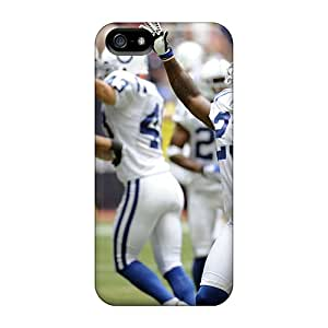 Iphone 5/5s Case Cover - Slim Fit Tpu Protector Shock Absorbent Case (indianapolis Colts Games)