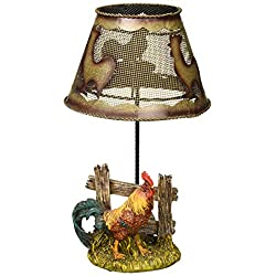 Accent Plus Country Rooster Candle LAMP