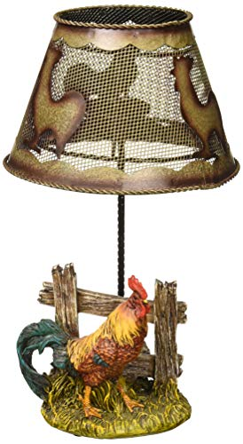 Accent Plus Country Rooster Candle LAMP (Rooster Table Lamp)