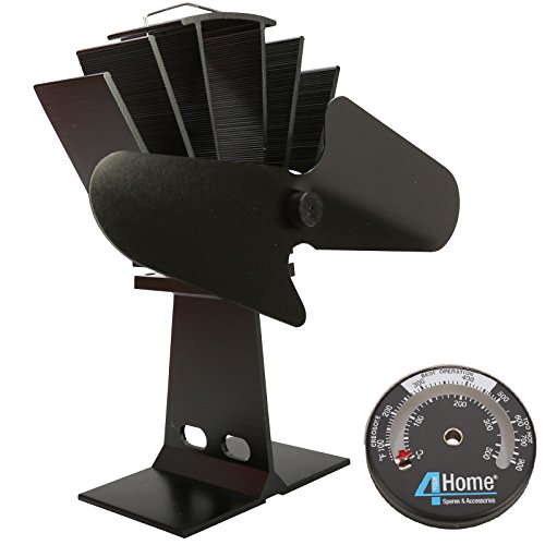 4YourHome Eco Friendly Silent Heat Powered Stove Fan For Wood Log Burners +...