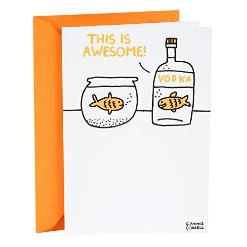 Hallmark Shoebox Funny Birthday Card (Vodka Goldfish) (For Card Funny Mom Birthday)