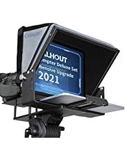 CANALHOUT 12 inch Teleprompter Luxury Kit, DSLR, Smartphone, VCR, DV Camera Shooting, Max to 11-inch iPad Prompt, Metal Structure, 70/30 Beam Splitter Glass, Hard Blackout Cloth, Customized Tote Bag