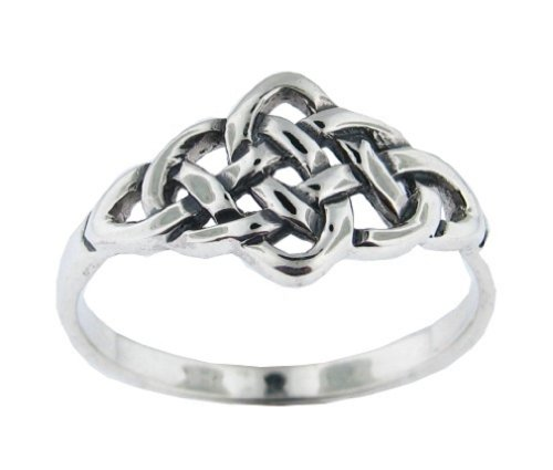 .925 Sterling Silver Celtic Eternity Mystic Knot Ring