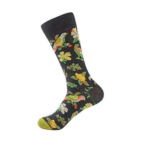 URIBAKE Women Animal Flower Print Socks Warm Thick Winter Soft Knit Crew Socks