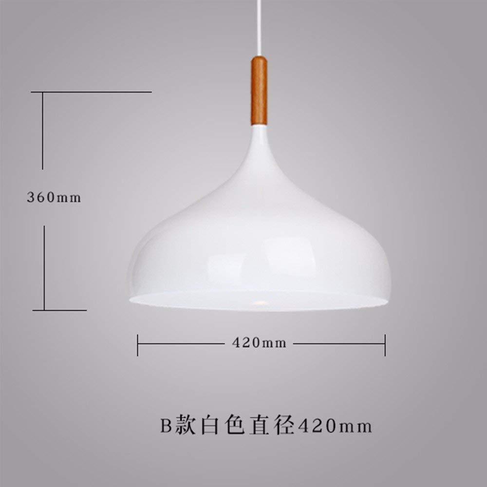 GUO Gzz Deng Home Outdoor Lighting Pendant Light Shade Industrial Hanging Ceiling Lamp Chandelier Wood Japanese 420X360Mm White Living Room Restaurant Bedroom Lighting