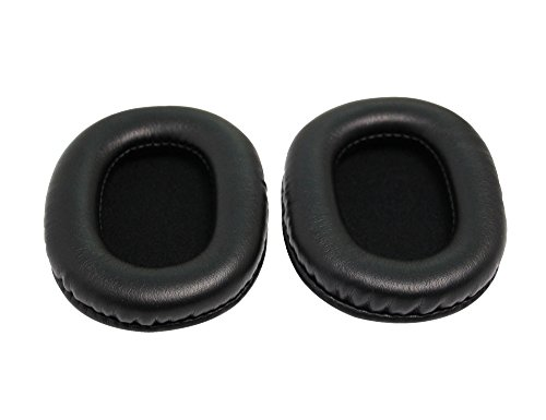 Replacement Ear Pads Earpads Cushion for Audio-Technica ATH-M50x, ATH-M40X, ATH-M30, ATH-M50, ATH-M50s Headphone (Black) (M50 Pads)