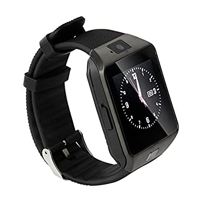 Soyan Latest DZ09 Watch Phone Bluetooth Smart watch Camera Watch WristWatch With Camera, SIM Card Slot and Protective Film Mate For Android Phones(Full functions) (Black)