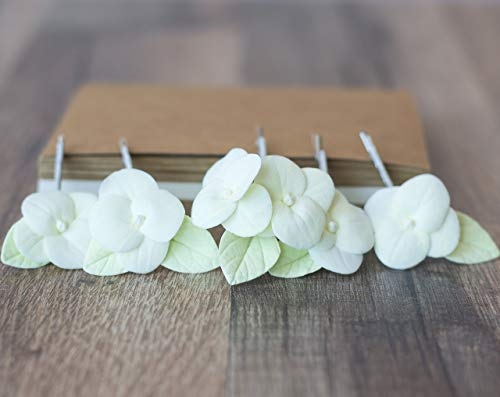 Hydrangea flower hair clips