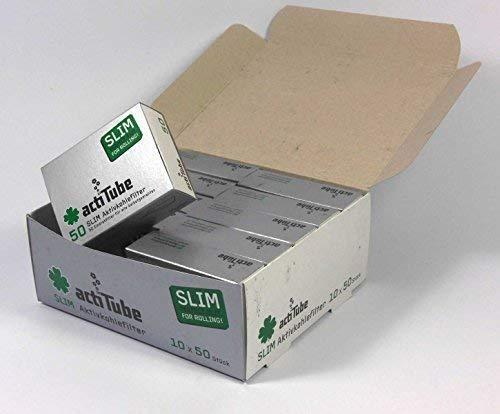 actiTube Slim - Filtros de carbon Activo (10 x 50 Unidades)