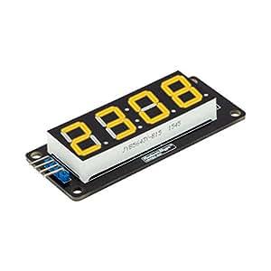 Lanfy 10Pcs RobotDyn Yellow LED Display Module 4-digit 7-segment Tube For Arduino DIY