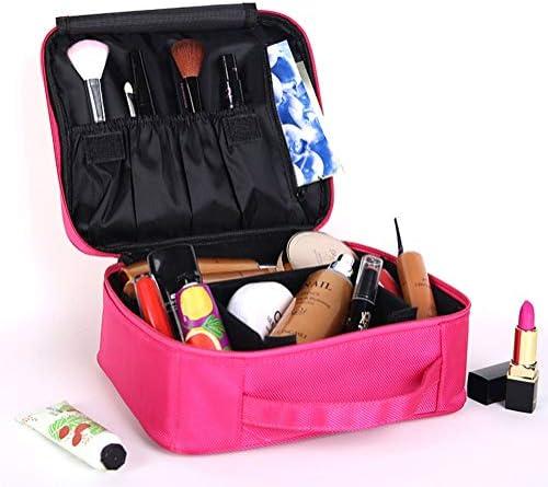 トラベルメイクアップバッグ化粧品プロフェッショナルトレインケースオーガナイザー、取り外し可能なパーティション、ジム、旅行、アウトドア、週末の休暇用
