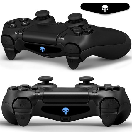 SKINOWN-PS4-Pair-of-Skull-LED-Light-Bar-Vinyl-Decal-2PCS-Sticker-Cover-Skins