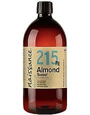 Naissance Sötmandelolja (Nr. 215) 1 Liter - Naturligtvis, Cruelty Free, Vegan, Ingen GMO