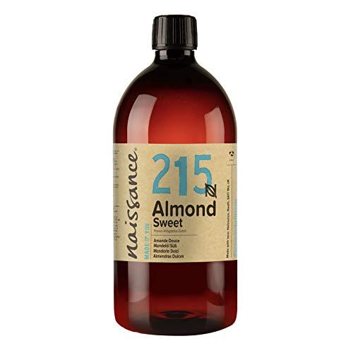 Naissance Aceite de Almendras Dulces n º 215-1 Litro - 100% natural para humectar y equilibrar la piel, hidratar el cabello y todo el cuerpo