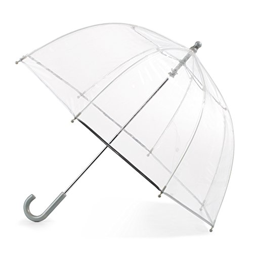 Totes Kid's Bubble Umbrella with Easy Grip Handle, Clear -