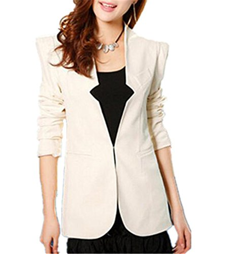 JIANGTAOLANG Long Sleeve Business Blazers JacketsSlim Fit Formal Office Work Blaser Red White Black