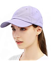 8ef86e3f3c7 Unisex Vintage Plain Color Baseball Cap Washed Cotton Dad Hat Low Profile  Snapback Adjustable Trucker Hats