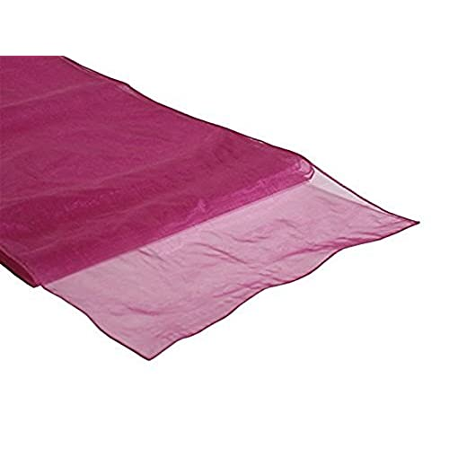 Wedding table and chair decorations amazon miraise 10pcs 12 x 108 30 x 275cm sheer organza roll fabric wedding party banquet event decor chair bows table runner sash decoration fuchsia junglespirit Images