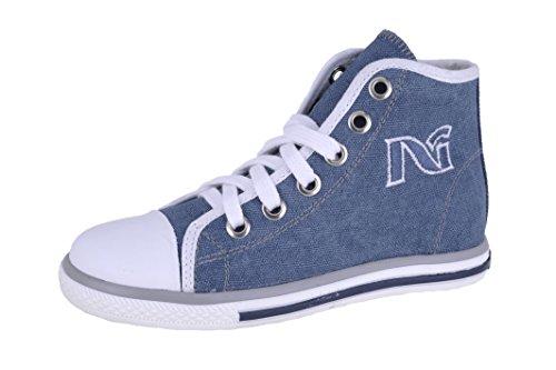 garçon Giardini Bleu pour Denim bleu Nero 30 Junior Baskets AIwqx11z
