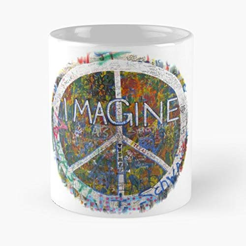 Imagine John Lennon Peace Wall - Ceramic Mugs