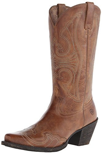 (Ariat Women's Round Up D Toe Wingtip Western Cowboy Boot - 6.5 B-Medium US)