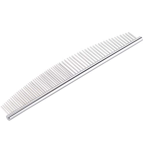 PETTOM Cat Comb Dog Grooming Remove Matted Fur Half Moon Pet Comb Stainless Steel Teeth Arc Design for Lose Hair Tangles…