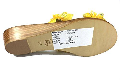 Zapatos Mujer EDDY DANIELE 37 EU Sandalias Amarillo Satén as89