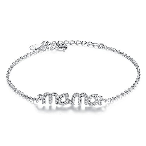 Bender Costume Amazon (BELAWANG For Mother's Day 925 Sterling Silver CZ Link Bracelet with Mama Letter)