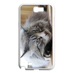 Custom Cat Design Samsung Galaxy Note 2 Plastic Case Cover