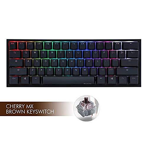 Ducky One 2 Mini RGB LED 60% Double Shot PBT Mechanical Keyboard (Cherry MX Brown)
