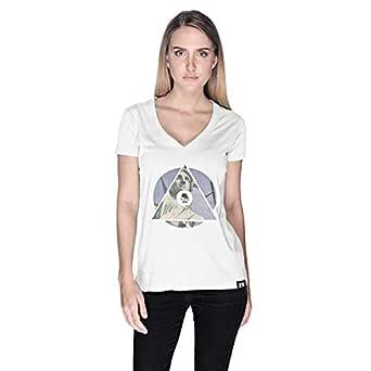 Creo Nyc Libertyt-Shirt For Women - L, White