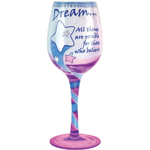 Stars Design Hand Painted Goblet - Westland Giftware Dream Wine Glass