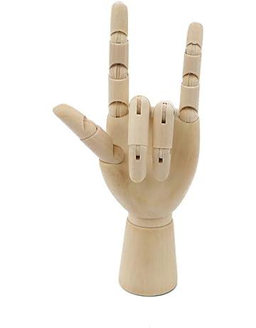 flessibile per disegno artistico PDFans mano in legno manichino snodato display Left+Right Hands articolato