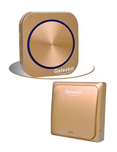 - Galexbit Wireless Door Chime for Home no Batteries Needed Musical Doorbell no Batteries Required 492-feet Range with 58 Chimes,Gold