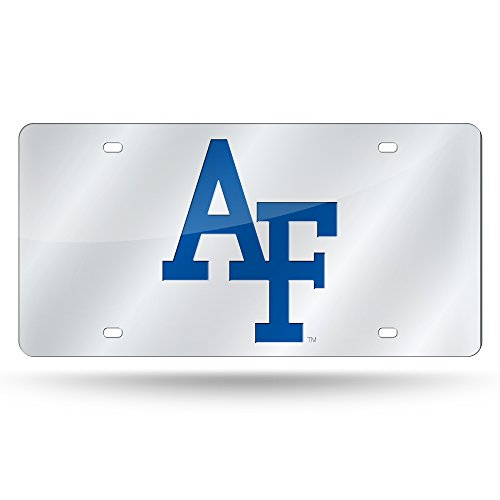 Rico Industries NCAA Air Force Falcons Laser Inlaid Metal License Plate Tag, Silver