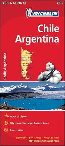 Téléchargement Chile Argentina National Map pdf ebook