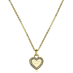 Michael Kors Tone Logo Heart Pendant Necklace