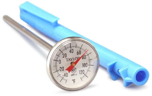 (Taylor Precision Products Bi-Therm Standard Grade Instant Read Bi-Metal Thermometer (5-Inch Stem, 1-Inch Dial, -40- to 120-Degrees Fahrenheit))