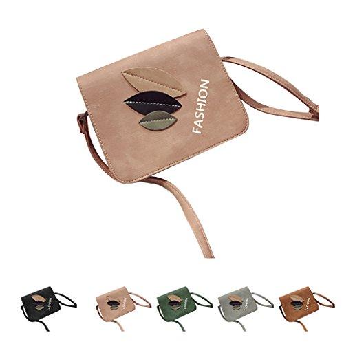 KOROWA Sacchetto di spalla di cuoio di cuoio dell'unità di elaborazione di tre lati sacchetto quadrato casuale del messaggero
