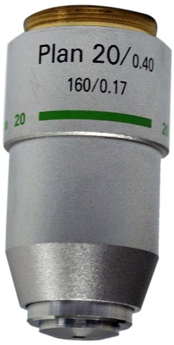 National Optical 720-160P 20X DIN Plan Achromat Objective Lens, N.A. 0.40, For 160 Microscopes