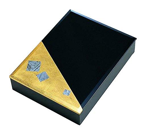 Handmade w/ Japanese Gold Paper Script Series: T13-05 Postcard Box by Tajima
