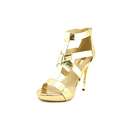 INC International Concepts Peny Womens Size 9.5 Gold Dress Sandals Shoes