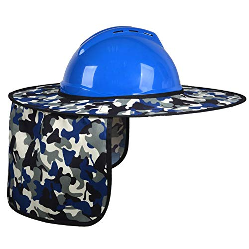 Hard Hat Visor And Neck Shade, Yhouse Full Brim Sunshield Camouflage Polyester Sun Shade Protector for Hard Hats Helmets,One Size Fits Most -