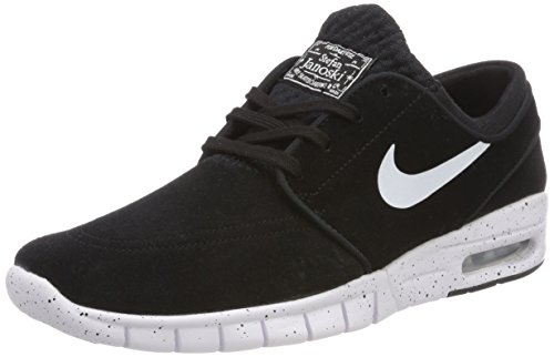 huge discount bb07d 11916 Nike Mens Air Stefan Janoski Max L Skateboarding Shoe ( Black   white , 5.5  D