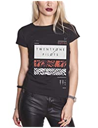 21 Twenty One Pilots T Shirt Filler Bars Clique Logo Official Womens Skinny Fit