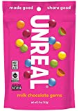 Unreal, Candy Coated Milk Chocolate Gems, 6 Ounce